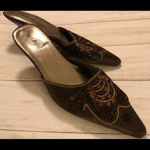 White Stagg heels